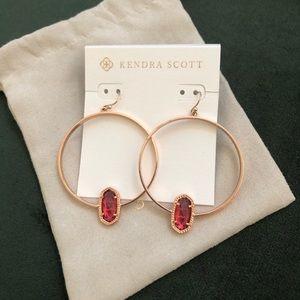 Kendra Scott Rose Gold Berry Hoops